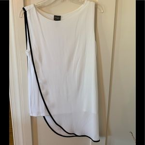 Chico's travelers white top with black trim